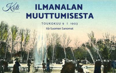 Ilmanalan muuttumisesta artikkeli vuodelta 1903